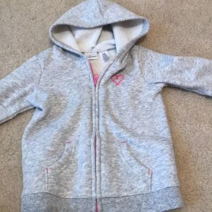 EUC Jumping Bean Gray Zip Up Sweatshirt